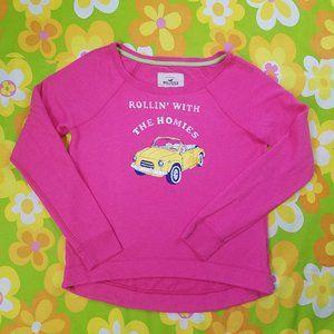 Hollister Sweatshirt Rollin Homies Clueless Pink